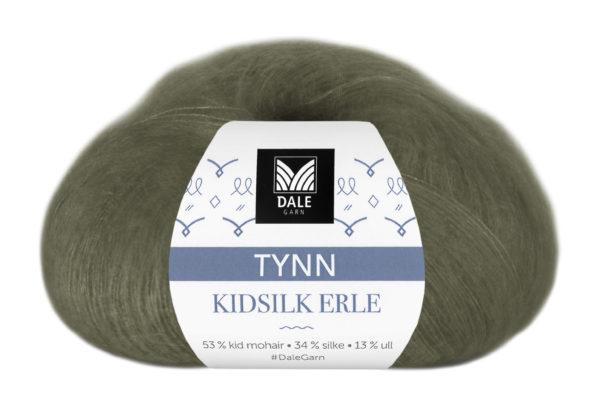 232-4012_DG_Tynn_Kidsilk_Erle_4012_Armygrønn_Banderole